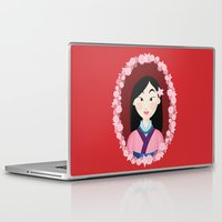 mulan Laptop & iPad Skins featuring Mulan  by Joey Ellson