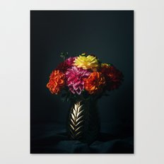Dahlias Love. Canvas Print