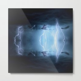 Thunderstorm - Photo Art Metal Print