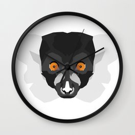 Black and White Ruffed Lemur Wall Clock