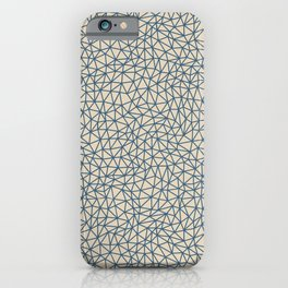 Blue Abstract Triangle Shape Pattern on Beige Pairs To 2020 Color of the Year Chinese Porcelain iPhone Case