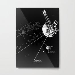 Pioneer Plaque Metal Print