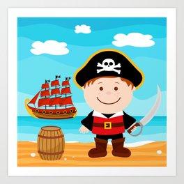 Pirate Boy Art Print