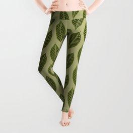 green foliage Leggings