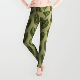 green foliage Leggings