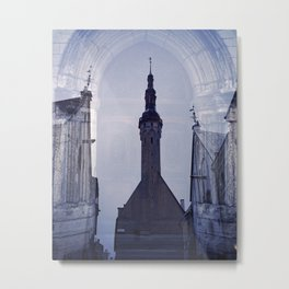 Tallin. Old town. Reflection. Metal Print