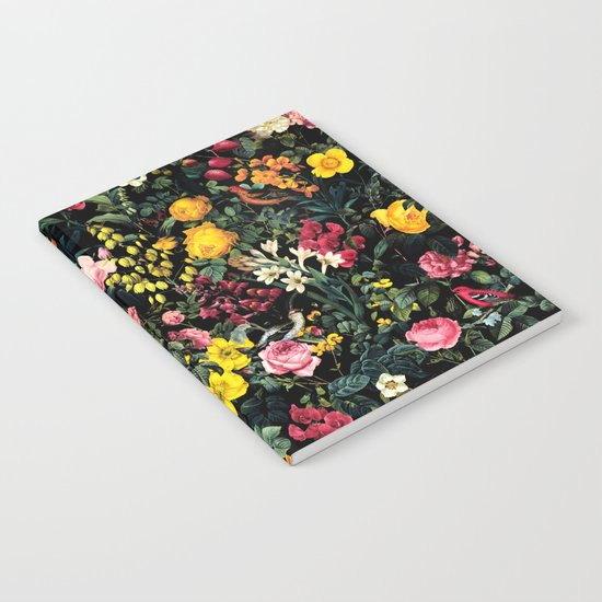 Floral and Birds Pattern Notebook