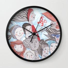 Breezy Parade Wall Clock