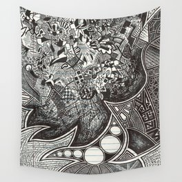 Red, Black, White, And Deja Wall Tapestry