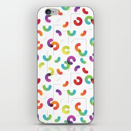 Funny color design. Arcs and Lines #1 iPhone Skin