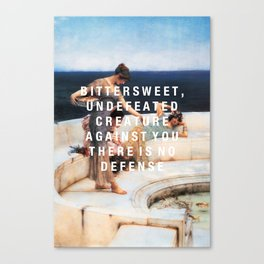 bittersweet, undefeated  Canvas Print