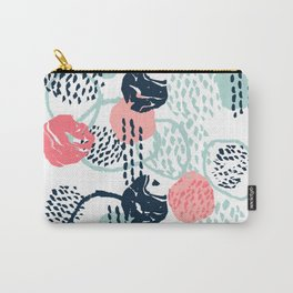 Mellie - abstract minimal modern art print painted boho hipster gender neutral canvas art Carry-All Pouch
