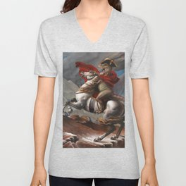 T. Rex Crossing the Alps Unisex V-Neck