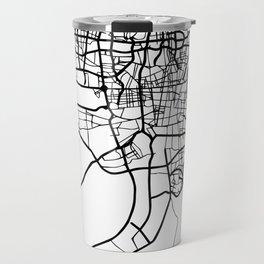 TEHRAN IRAN BLACK CITY STREET MAP ART Travel Mug