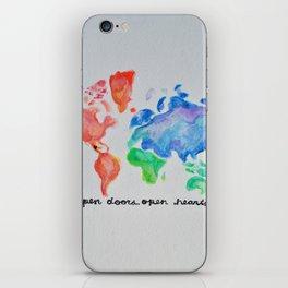 puerta project: open doors open hearts iPhone Skin