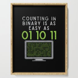 Counting In Binary Is As Easy As 01 10 11 Serving Tray