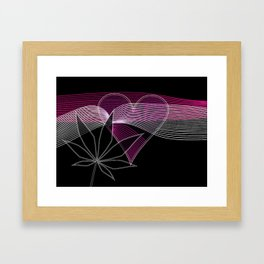I Heart Cannabis Framed Art Print