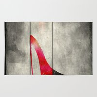 shoe Area & Throw Rugs featuring Painted Shoe by V.L. Durand