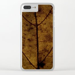 Gold Leaf Clear iPhone Case