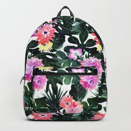 Lush Tropical Floral Backpack