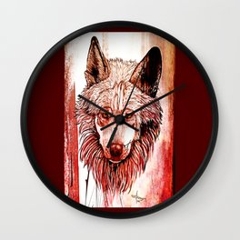 Alpha: Red Wall Clock