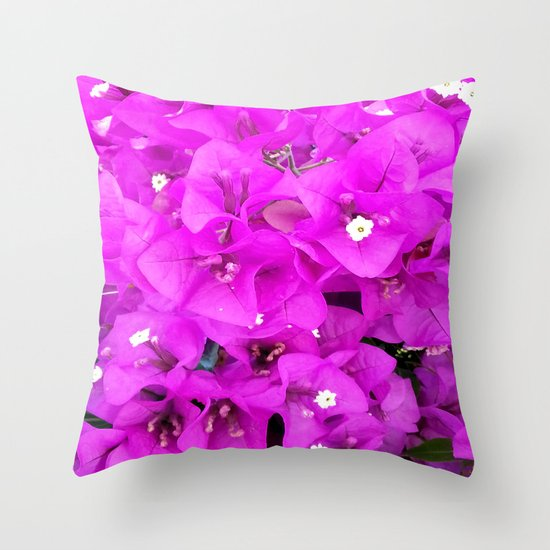 Backyard Beauty - Purple Petals Throw Pillow