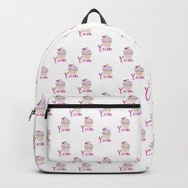 Yum Pink Cupcake Pattern Backpack
