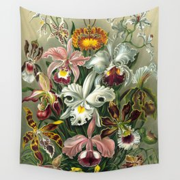 Vintage Orchid Floral Wall Tapestry