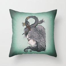 Swan Song art print Throw Pillow