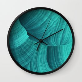 Turquoise Sediment Wall Clock