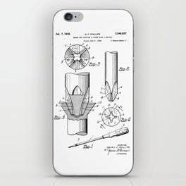 Phillips Screwdriver: Henry F. Phillips Screwdriver Patent iPhone Skin