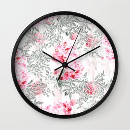 PINK ORCHIDS IN SPRING BLOOM Wall Clock