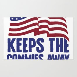 A PLEDGE A DAY KEEPS THE COMMIES AWAY T-SHIRT Rug