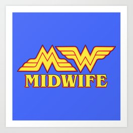 MidWife (Comic Version) Art Print