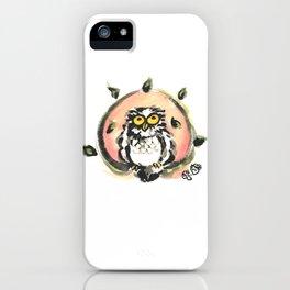 Happy owl iPhone Case