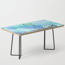 Blue Garden I Coffee Table