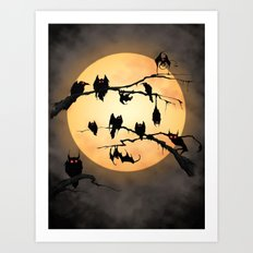 Eyes In The Dark Art Print