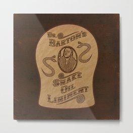Dr. Barton's Snake Oil Liniment Metal Print