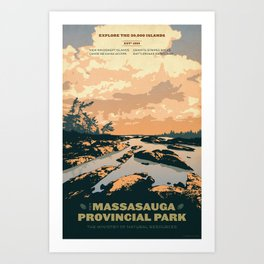 The Massasauga Park Poster Art Print