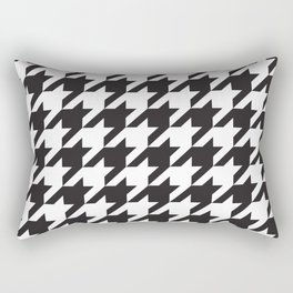 Houndstooth (Black and White) Rectangular Pillow