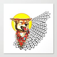 coyote Canvas Prints featuring Coyote by Renaissance Youth