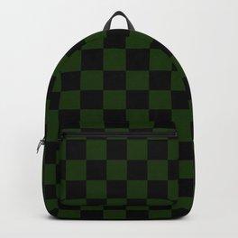 Checkered (green + black) Backpack