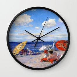 William Merritt Chase - At The Seaside - Digital Remastered Edition Wall Clock