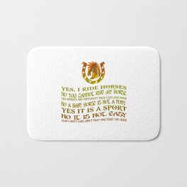 The Best Horse Ever! Bath Mat