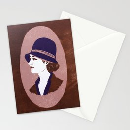 1920s Lady (linocut) Stationery Cards