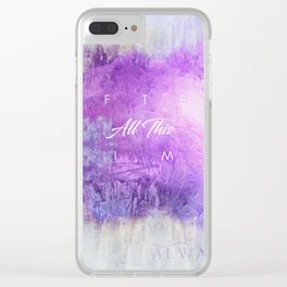 After all this time Clear iPhone Case