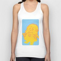 minion Tank Tops featuring minion by Colien
