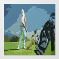 golf Canvas Prints featuring GOLF by aztosaha