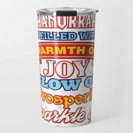 Hanukkah Happiness Joy Prosperity Happiness Travel Mug