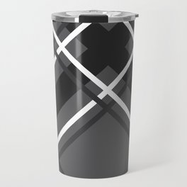 Jumbo Scale Men's Plaid Pattern Travel Mug